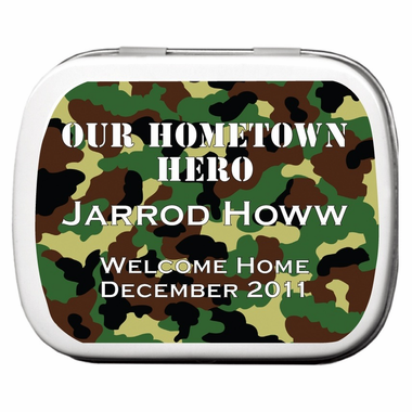 Hunting Favors Party Mint Tins