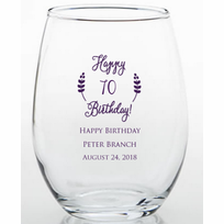 Imprinted Glasses As Low 192 Ea 70th Birthday Party Favors