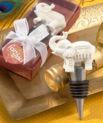 Indian Wedding Party Favors Elephant Bottle Stoppers