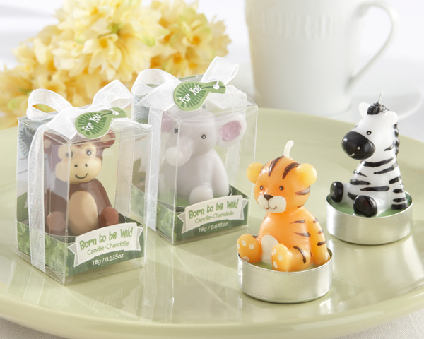 Jungle Baby Shower Favors Candle Decorations Set Of 4