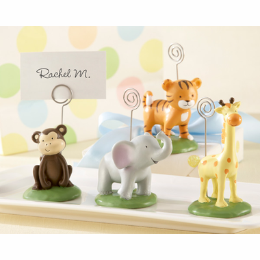 Jungle Theme Baby Shower Favors Place Card Holders - Set of 4
