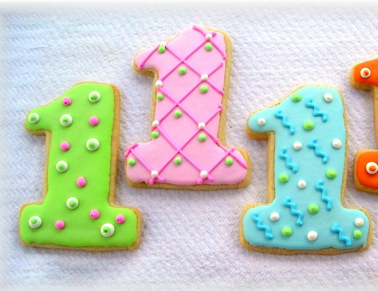 Kids Birthday Party Favors - Number Cookies