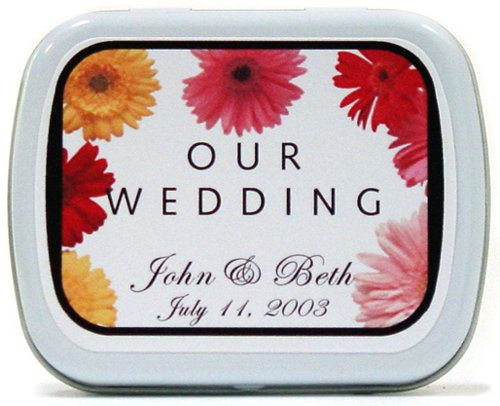 kosher wedding favors daisy mint tins