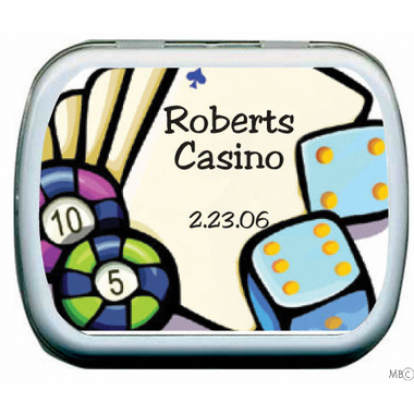 Las Vegas Mint Tin Favors