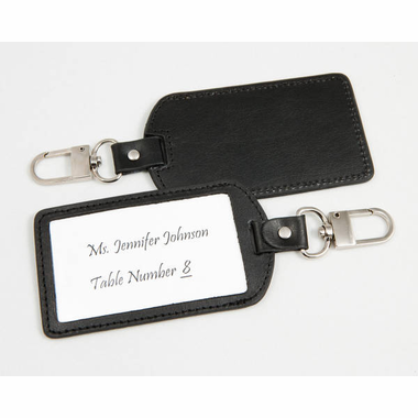 Leather Luggage Tag Favors