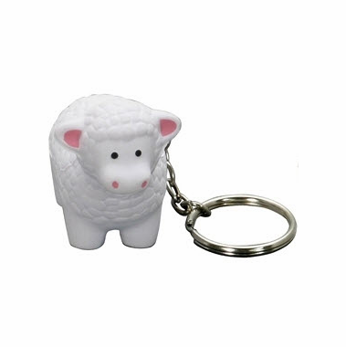 Little Lamb Key Chain Stress Reliever