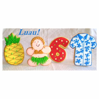Luau Cookie Favors