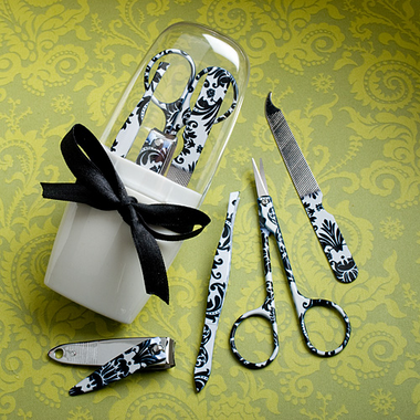 Manicure Set Gift - Damask Design