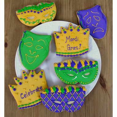 Mardi Gras Cookies Party Favors