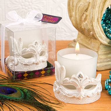 Mardi Gras Theme Party Candle