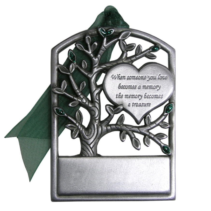 memorial christmas ornaments pewter