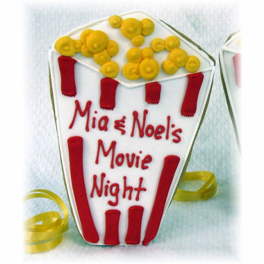 Movie Popcorn Box Cookie Favors