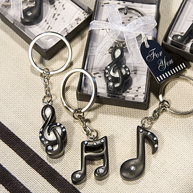 Music Note Favors -  Keychain