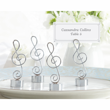 Music Place Card Holders for Party - Set of 4