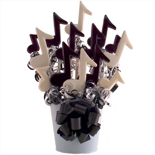 Music themed centerpieces and decor