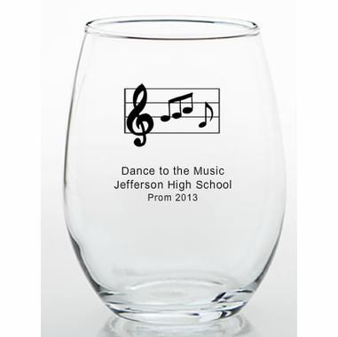 Music Themed Favors Glasses - 9 ounce