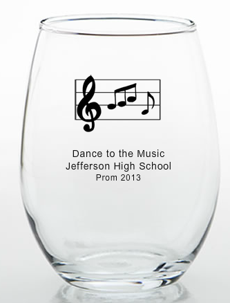 Music Themed Favors Glasses 9 Ounce