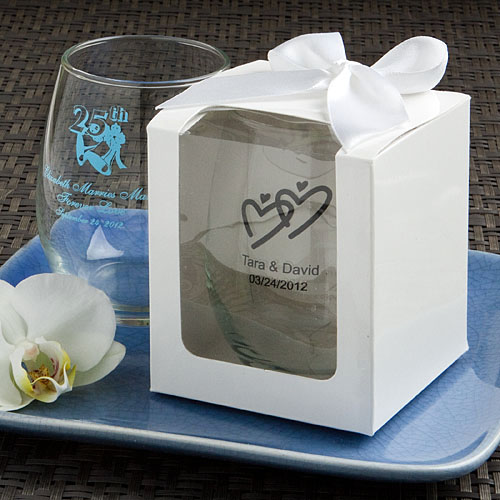 New Orleans Wedding Favors - Stemless Glass