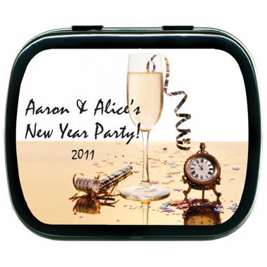 New Year's Party Favors Mint Tins