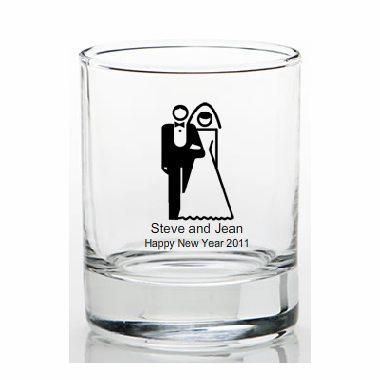 New Years Eve Wedding Favors Shot Glass