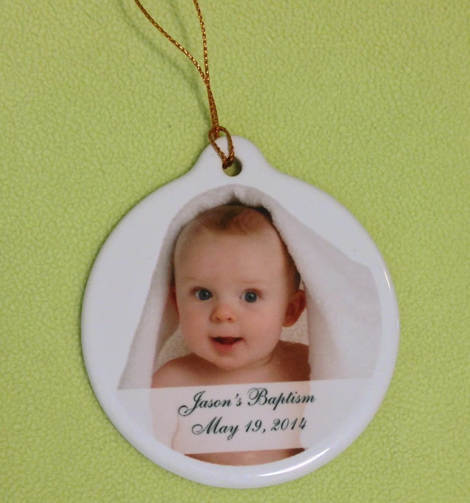 Baptism Ornament Personalized Christmas Ornament Christening: Ornament Christening Favors
