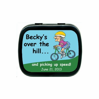 Over the Hill Party Favors Mint Tins