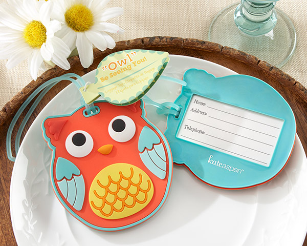 Owl Baby Shower Favors Luggage Tag