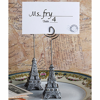 Paris Party Theme Table Placecard Holders
