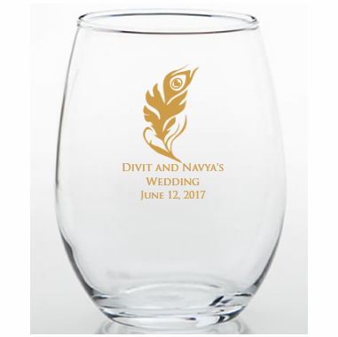 Personalized Stemless Glass for Hindu Weddings