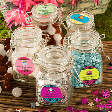 Personalized Apothecary Jars for Candies
