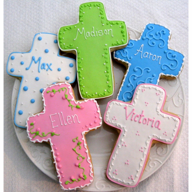 Personalized Baptism Cookies