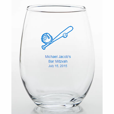 Personalized Baseball Favors Trinket Glass