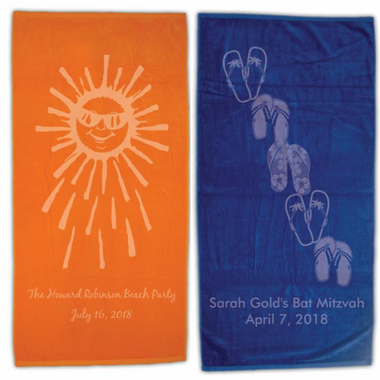 Personalized Beach Towels for Bar Mitzvah