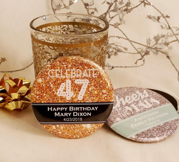personalized birthday magnets or mirrors