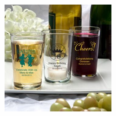 Personalized Bistro Glasses