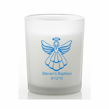 Personalized Candle Baptism Favors