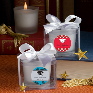 Personalized Candle Graduation Favors