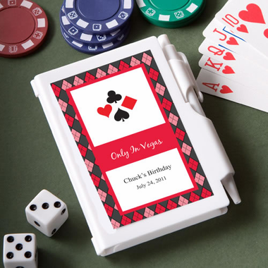 Personalized Casino Notebook Favor