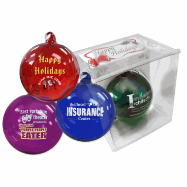 Personalized Christmas Ornament Hand Blown Glass