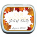 Personalized Fall Mint tins