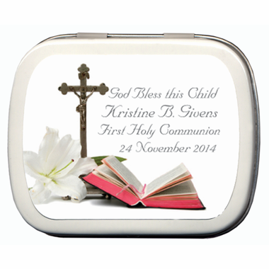 Personalized First Communion Favors Mint Tins