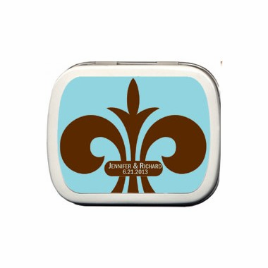 Personalized Fleur de Lis Favors Mint Tins