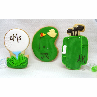 Personalized Golf  Cookie Wedding Favors