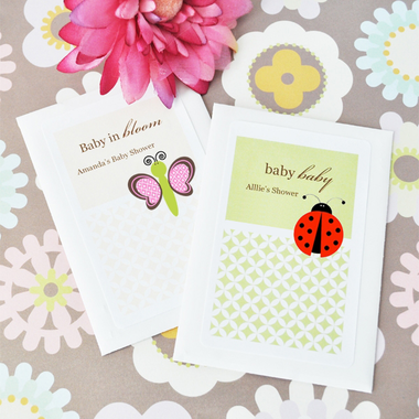 Personalized Ladybug Favors Seed Packets