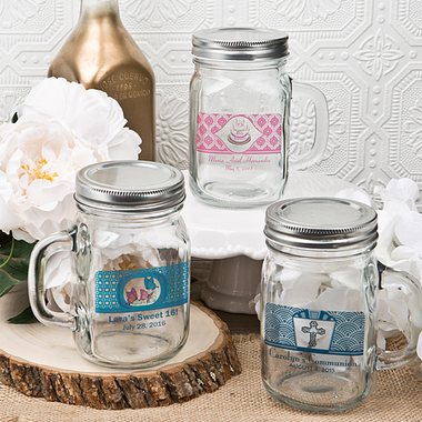 Personalized Mason Jars Mugs