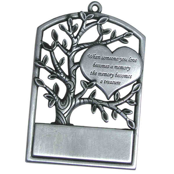 Memorial Christmas Ornament - Pewter