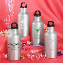Personalized Aluminum Water Bottles Birthday Favors