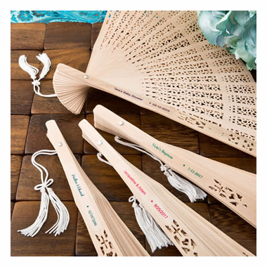 Personalized Sandalwood Hand Fans