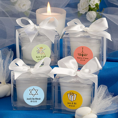Personalized Star of David Candle Favors