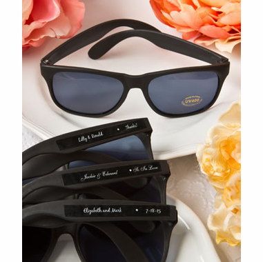 Personalized Sunglasses Black - DIY Stick On Labels